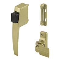 Prime Line K 5008 - Push Button Latch Set, Gold