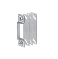 "Prime Line K 5009 - Screen Door Strike Plate, 1/4"" W/Shims, Aluminum"