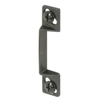 "Prime Line K 5010 - Screen Door Strike Plate, 1/4"" W/Shims, Black"