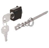 Prime Line K 5024 - Push Button Locking Unit, Keyed , Black