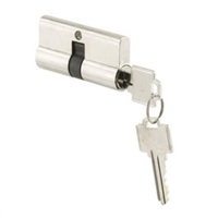 Prime Line K 5061 - Security Door Cylinder, Double Keyed, Chrome, Kwik/Weiser