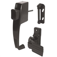 Prime Line K 5071 - Push Button Latch, W/Tie Down, Black