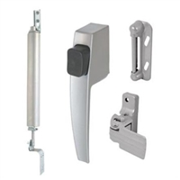 Prime Line K 5112 - Push Button Latch & Closer Kit, (Ca) Aluminum