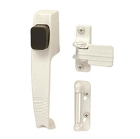 Prime Line K 5116 - Push Button Latch, W/Tie Down, White