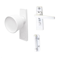 Prime Line K 5121 - Tulip Knob Latch Set, White