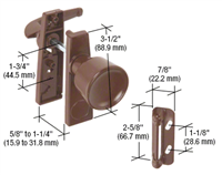 Prime Line K 5170 - Tulip Knob Latch Set, Chocolate Brown