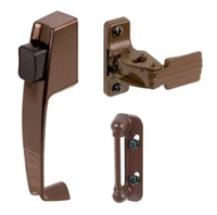 Prime Line K 5171 - Push Button Latch, W/Tie Down, Canada Brown