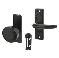 "Prime Line K 5340 - Knob Latch, W/3"" Hole Center, Black"