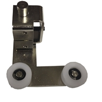 ADH Select Left Hand Fixed Panel Double Roller Bottom Guide Assembly For Keane Monroe KM 1100 Automatic Sliding Door