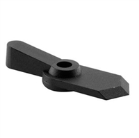 "Prime Line L 5760 - Pointer Latch, 1/16"" Offset, Black Plastic"