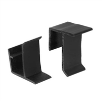 Prime Line L 5799 - Screen Frame Holder, Top & Bottom, 2/Sets, Black Vinyl