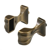 Prime Line M 6043 - Shower Door Towel Bar Bracket, Antique Brass
