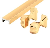 Prime Line M 6094 - Shower Door Towel Bar & Bracket Set, Brass