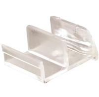 Prime Line M 6111 - Shower Door Bottom Guide, Clear Acrylic