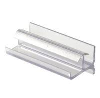 Prime Line M 6144 - Shower Door Bottom Guide, Clear