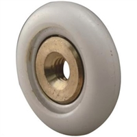 "Prime Line M 6206 - Tub Enclosure Rollers, 3/4"" Round, Narrow Tire"