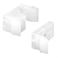 Prime Line M 6218 - Tub Enclosure Guides & Bumpers, White