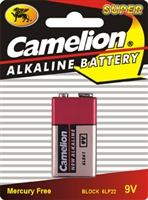 9V Alkaline Batteries, 6 Pack