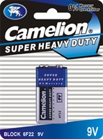 9V Super Heavy Duty Batteries, 6 Pack