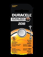 Duracell 3V 2016 Lithium, Single Pack