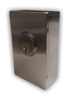"ADH Select Commercial ADA Door Opener Maintained Key Switch (SPDT) Assembly Includes: 7/8"" Mortise Cylinder, Keys, Vandal Resistant Security Box, Stainless Steel Faceplate"