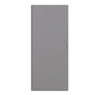 Amweld Spartan Hinge Commercial Hollow Steel Security Door, 18 Gauge, Flush, Non Handed, 3 Hour Ul Fire Rated, 30 In X 80 In, With Mortise Box No Cut Out Edge Prep Only