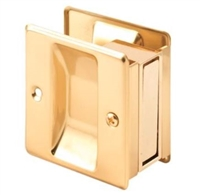 Prime Line N 6770 - Pocket Door Passage Pull, Polished Brass
