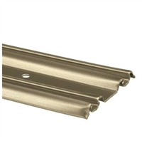 "Prime Line N 6881 - Closet Door Bottom Track, 72"", Champagne Gold"