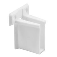 Prime Line N 7016 - Wire Shelf End Bracket, White Plastic
