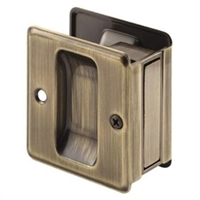 Prime Line N 7080 - Pocket Door Passage Pull, Antique Brass