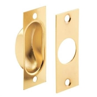 Prime Line N 7196 - Pocket Door Finger Pull, Brass Plated, W/Screws