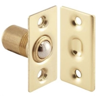 "Prime Line N 7285 - Closet Door Small Ball Catch, W/Strike, 1-1/2"", Solid Brass"