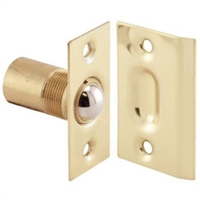 "Prime Line N 7287 - Closet Door Large Ball Catch, W/Strike, 2-1/8"", Solid Brass"