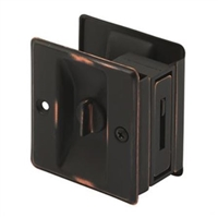 Prime Line N 7319 - Pocket Door Privacy Lock W/Pull, Classic Bronze