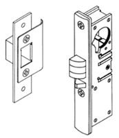 "S. Parker Hardware N6201All-B25, Narrow Stile Latch With All Metal Latches, Aluminum Left Hand 31/32"" Backset - Bulk 25 Pack"