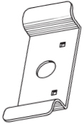 S. Parker Hardware Pc510Dur, Door Pull Duranodic Finish