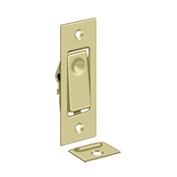 Deltana Pdb42U3-Unl - Pocket Door Bolts, Jamb Bolt - 	Unlacquered Brass Finish