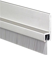 "Pemko 18041Cnb84, Brush Meeting Stile Gasketing, 3/4"" Clear Aluminum Channel, 3/8"" Exposed Brush, 84"""