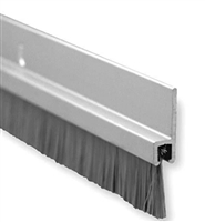 "Pemko 18061Cnb48, Brush Door Sweep, 3/4"" Clear Aluminum Channel, 5/8"" Brush, 48"" Long - Clear Anodized Aluminum With Gray Nylon Brush Insert"