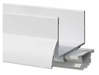 "Pemko 216Pwv36, Painted White, Aluminum U Shape Door Shoe, Drip Ledge, Vinyl Bottom Seal, 1-3/4"" Door, 36"" - Painted White Aluminum With White Eco-V Insert"