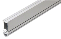 Pemko 29310Cs84, Straight Snap-Cover Meeting Stile, Clear Anodized Aluminum, Silicone Seal