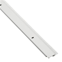"Pemko 29324Cnb36, Snap Cover Weatherstrip, Clear Anodized Aluminum, 1/4"" X 7/8"", With 3/8"" Gray Nylon Brush, 36"""