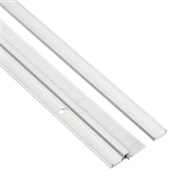 "Pemko 29326Cnb36, Snap Cover Weatherstrip, Clear Anodized Aluminum, 1/4"" X 7/8"", With 5/8"" Gray Nylon Brush, 36"""