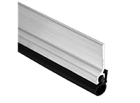 "Pemko 303As7284, Silicone Perimeter Door Seal Kit, Aluminum Channel, 72"" X 84"" Opening, Mill Finish Aluminum With Black Silicone Insert"