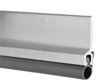"Pemko 303Av3684, Vinyl Perimeter Door Seal Kit, Aluminum Channel, 36"" X 84"" Opening - Mill Finish Aluminum With Gray Eco-V Insert"