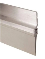 "Pemko 307Av48, Door Bottom Sweep, 7/8"" Gray Aluminum Channel, 1"" Vinyl, 48"" Long"
