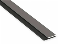 "Pemko 315Cn36, Neoprene Door Sweep, 1-1/4"" Clear Aluminum Channel, 7/16"" Neoprene, 36"" Long - Clear Anodized Aluminum With Black Neoprene Insert"
