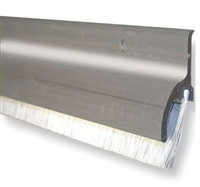 "Pemko 345Anb48, Door Bottom Sweep With Rain Drip, Mill Finish Aluminum, Nylon Brush Insert, 48"" Long"
