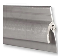 "Pemko 345Av36, Door Bottom Sweep W/ Rain Drip, Mill Finish Aluminum, Gray Vinyl Insert, 36"" Long"