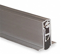 "Pemko 411Arl32, Full Mortised Auto Door Bottom, Mill Finish Aluminum With Black Sponge Epdm Insert, 32"" Long"